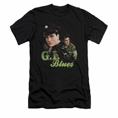 Elvis Presley Shirt Slim Fit G.I. Uniform Black T-Shirt