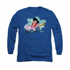 Elvis Presley Shirt Speedway Long Sleeve Royal Blue Tee T-Shirt