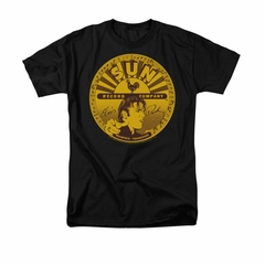 Elvis Presley Shirt Sun Records Full Logo Black T-Shirt
