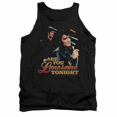 Elvis Presley Shirt Tank Top Are You Lonesome Black Tanktop