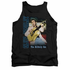 Elvis Presley Shirt Tank Top The Hillbilly Cat Black Tanktop