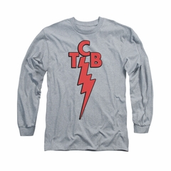 Elvis Presley Shirt TCB Long Sleeve Athletic Heather Tee T-Shirt