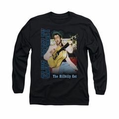 Elvis Presley Shirt The Hillbilly Cat Long Sleeve Black Tee T-Shirt