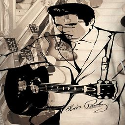 Elvis Presley The Guitarman Sublimation Shirts