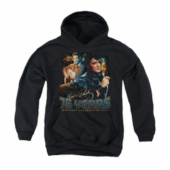 Elvis Presley Youth Hoodie 75 Year Birthday Black Kids Hoody