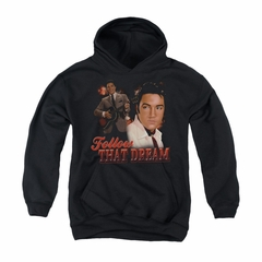Elvis Presley Youth Hoodie Follow That Dream Black Kids Hoody