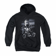 Elvis Presley Youth Hoodie Motorcycle Black Kids Hoody
