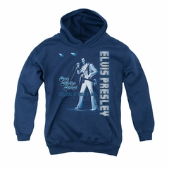 Elvis Presley Youth Hoodie One Night Only Navy Kids Hoody