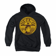 Elvis Presley Youth Hoodie Sun Records Full Logo Black Kids Hoody