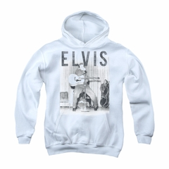 Elvis Presley Youth Hoodie With The Band White Kids Hoody