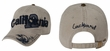 Embroidered California Design 3D Hat - Lackpard Cap - Dark Khaki