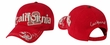 Embroidered California Design 3D Hat - Lackpard Cap - Red
