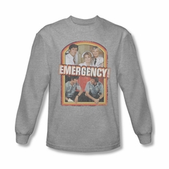 Emergency Shirt Cast Long Sleeve Athletic Heather Tee T-Shirt