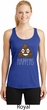Emoji Shit Happens Ladies Dry Wicking Racerback Tank Top