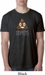 Emoji Shit Happens Mens Burnout Shirt