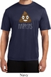 Emoji Shit Happens Mens Moisture Wicking Shirt