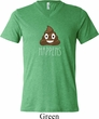 Emoji Shit Happens Mens Tri Blend V-neck Shirt