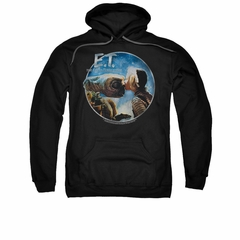 ET Shirts - Extra Terrestrial Hoodie Sweatshirt Gertie Kisses Black Adult Hoody Sweat Shirt