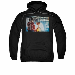 ET Shirts - Extra Terrestrial Hoodie Sweatshirt Knockout Black Adult Hoody Sweat Shirt