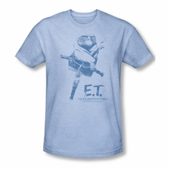 ET Shirts - Extra Terrestrial Shirt Bike Adult Heather Light Blue Tee T-Shirt