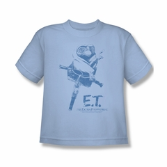 ET Shirts - Extra Terrestrial Shirt Kids Bike Light Blue Youth Tee T-Shirt