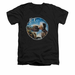 ET Shirts - Extra Terrestrial Shirt Slim Fit V Neck Gertie Kisses Black Tee T-Shirt