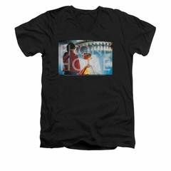 ET Shirts - Extra Terrestrial Shirt Slim Fit V Neck Knockout Black Tee T-Shirt