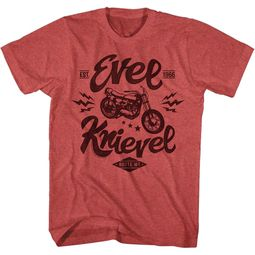 Evel Knievel Shirt Butte Montana Est. 1966 Motorcycle Red Heather T-Shirt