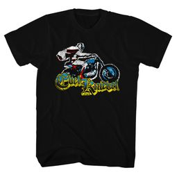 Evel Knievel Shirt Colorful Old Print Black T-Shirt
