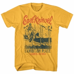Evel Knievel Shirt Exhibition Place Yellow T-Shirt