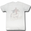 Evel Knievel Shirt Faded Adult White Tee T-Shirt