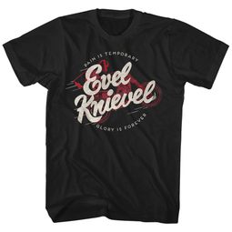 Evel Knievel Shirt Glory Is Forever Black T-Shirt