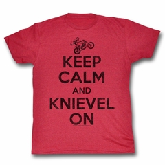 Evel Knievel Shirt Keep Calm Red T-Shirt