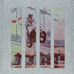 Evel Knievel Shirt Legend Adult Athletic Heather Tee T-Shirt