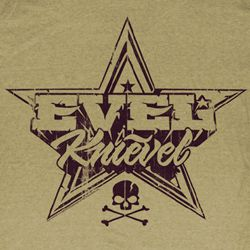 Evel Knievel Shirt Rock And Roll Adult Heather Sand Tee T-Shirt