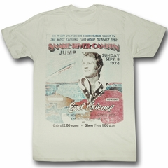 Evel Knievel Shirt Snake River Adult Dirty White Tee T-Shirt