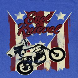 Evel Knievel Shirt Spangled Adult Royal Tee T-Shirt