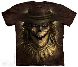 Evil Scare Crow Shirt Tie Dye Adult T-Shirt Tee