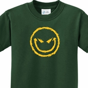 Evil Smiley Face Kids Halloween Shirts