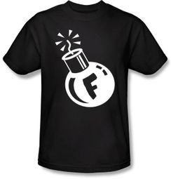 F Bomb Shirt - Funny Adult Curse Black T-shirt