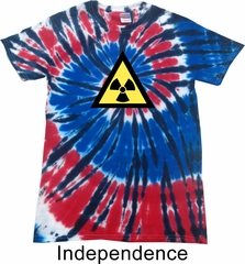Fallout Shirt Radioactive Triangle Patriotic Tie Dye Tee T-shirt