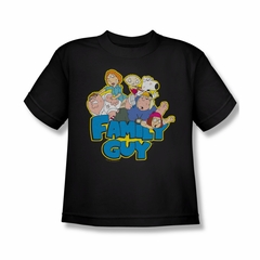 Family Guy Shirt Kids Family Fight Black T-Shirt