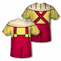Family Guy Shirt Stewie Costume Sublimation Shirt Front/Back Print