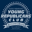 Family Ties Shirt Young Republicans Club Navy Juniors Tee