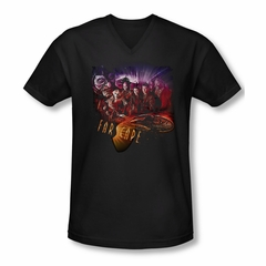 FarScape Shirt Graphic Collage Slim Fit V Neck Tee T-Shirt
