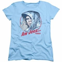 Fargo Womens Shirt Aw Jeez Light Blue T-Shirt