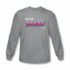 Farts Candy Shirt Eat My Farts Long Sleeve Silver Tee T-Shirt