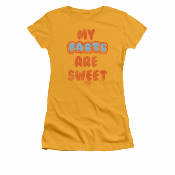 a8a62e75a Farts Candy Shirt Juniors Sweet Farts Gold T-Shirt - Farts Candy ...