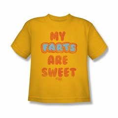 Farts Candy Shirt Kids Sweet Farts Gold T-Shirt