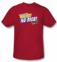Fast Times At Ridgemont High T-Shirt No Dice Adult Red Tee Shirt